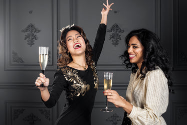 young and confident women cheers