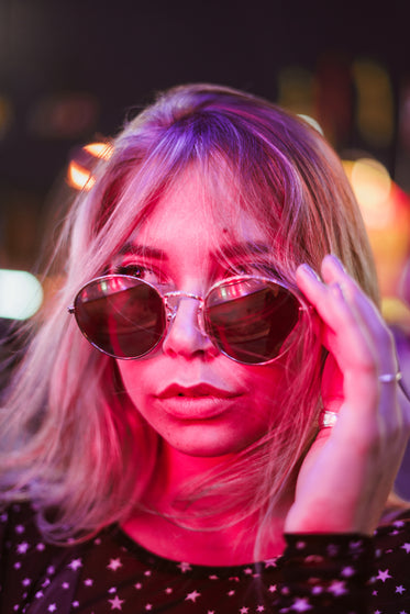 young fashionable woman in sunglasses