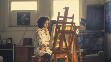 Picture of Young Woman Painting - Free Stock Photo